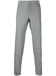 Incotex Button Cuff Trousers Men Wool 52 Grey