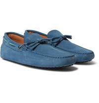 Tod's Gommino Suede Driving Shoes Blue