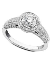 Macy's Engagement Ring Diamond 1 Ct. T.W. And 14K White Gold