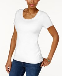 Charter Club Cotton Scoop Neck T Shirt Only At Macy's Bright White