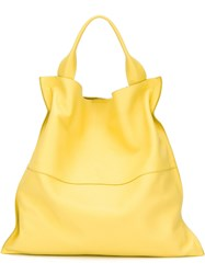 Jil Sander Slouch Tote Yellow Orange