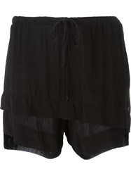 Lost And Found Layered Shorts Black