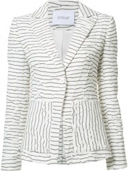 Derek Lam 10 Crosby Striped Blazer White
