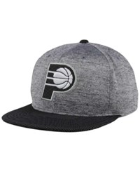 Mitchell And Ness Indiana Pacers Space Knit Snapback Cap Gray Heather