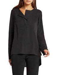Bcbgeneration Solid Long Sleeve Top Black
