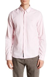 Mavi America Sportswear Long Sleeve Solid Fitted Shirt Pink