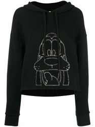 Monse Embroidered Goofy Hoodie Black