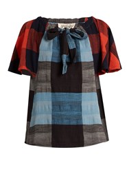 Ace And Jig Amelia Plaid Cotton Top Blue Multi