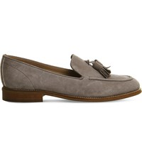 Office Naples Tasseled Loafers Grey Suede