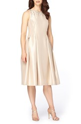 Tahari Women's Embellished Fit And Flare Dress