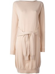 Maison Martin Margiela Mm6 Front Knot Dress Nude And Neutrals