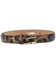 Dolce And Gabbana Gold Buckled Belt Black