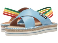 Love Moschino Rainbow Strap Sandal Blue