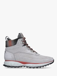 Cole Haan Grand Explore Lace Up Hiker Boots Mid Grey Suede