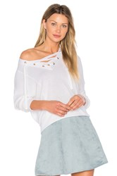 Bcbgeneration Laced Sweater White
