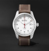 Bremont Airco Mach 1 Automatic Chronometer 40Mm Stainless Steel And Leather Watch White