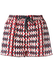 F.R.S For Restless Sleepers Printed Drawstring Shorts Red