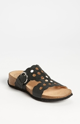 Think 'Mizzi' T Strap Sandal Black Leather