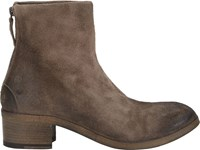 Marsell Back Zip Ankle Boots Brown