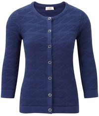 Cc Rope Stitch Cardigan Denim Marl