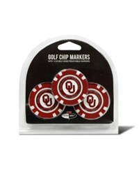 Team Golf Oklahoma Sooners 3 Pack Poker Chip Markers Team Color
