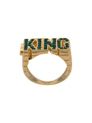 Dolce And Gabbana King Shape Ring Gold