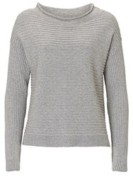 Betty Barclay And Co. Raised Rib Jumper Silver Melange