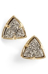Women's Kendra Scott 'Parker' Stud Earrings Gold Platinum Drusy