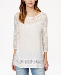 American Rag Lace Trim Tunic Top Only At Macy's
