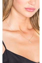 Sachi Moon And Star Necklace Metallic Gold