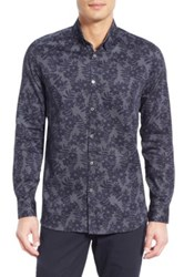 Ted Baker 'Twoaces' Modern Slim Fit Sport Shirt Blue