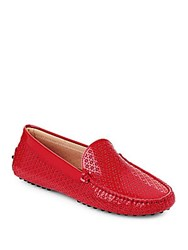 Tod's Textured Italian Leather Loafers