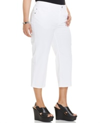 Lee Plus Size Cropped Jeans White Wash