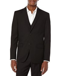 Perry Ellis Big And Tall Solid Suit Jacket Black