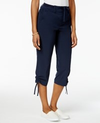 Style And Co Ruched Leg Capri Pants Only At Macy's Industrial Blue
