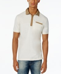 Sean John Men's Textured Polo Sj Cream