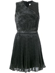 Carven Sequinned Pleated Dress Women Silk Polyamide Polyester Viscose 42 Grey