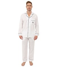 Bedhead Long Sleeve Classic Bottom Pajama Set Mr. And Mrs. Ivory Men's Pajama Sets White