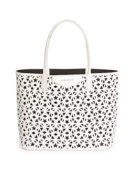 Givenchy Antigona Small Star Perforated Leather Tote White Black