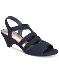 Impo Estella Stretch Strappy Sandals Women's Shoes Navy