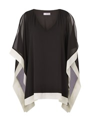 Windsmoor Black And Oyster Chiffon Tunic Multi Coloured