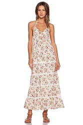 Toby Heart Ginger Vintage Blossom Maxi Dress Cream
