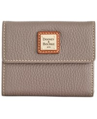 Dooney And Bourke Pebble Small Flap Wallet Elephant