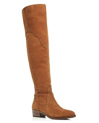 Frye Ray Grommet Over The Knee Boots Wood