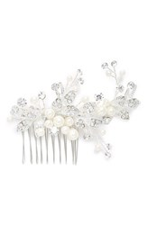 Brides And Hairpins 'Catherine' Jeweled Hair Comb Grey Classic Silver