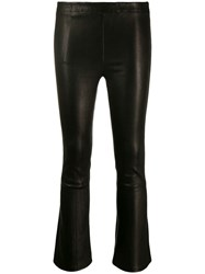 J Brand Cropped Mid Rise Trousers Black