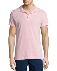 Orlebar Brown Felix Johnny Collar Polo Shirt Pink