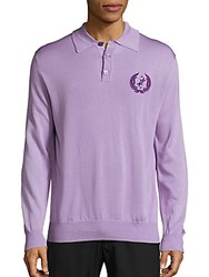 Billionaire Polo Long Sleeve Tee Lilac