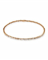 Suzanne Kalan 18K Rose Gold Diamond Baguette Choker Necklace 3.0 Tdcw