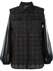Just Cavalli Slit Dolman Sleeve Shirt Black